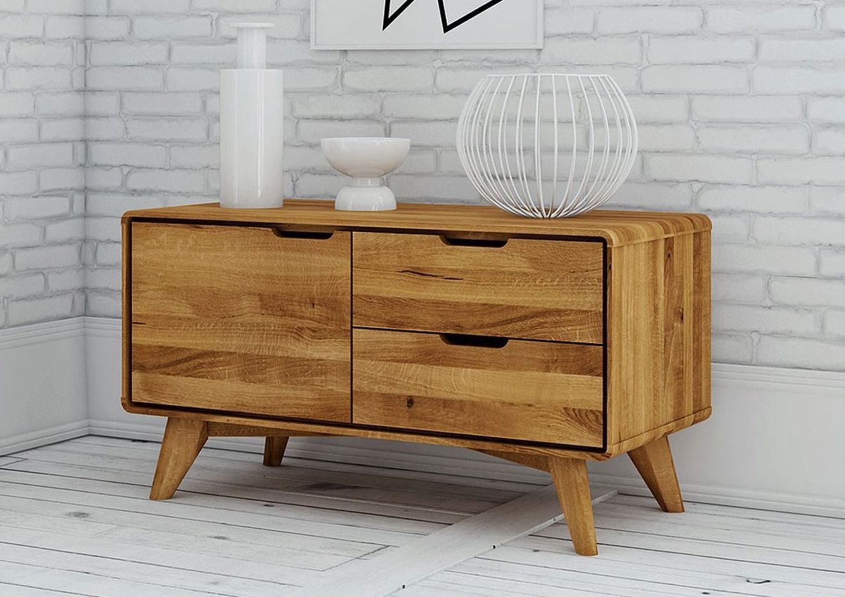 sideboard wildeiche 90x40x49 natur ge lt malm. Black Bedroom Furniture Sets. Home Design Ideas