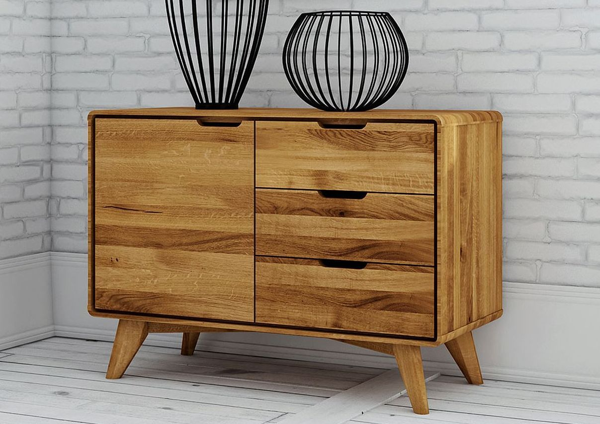 sideboard sixty style wildeiche 90x40x65cm natur ge lt malm. Black Bedroom Furniture Sets. Home Design Ideas