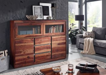 Credenza in legno sheesham - laccato / noble unique 150x40x115 SYDNEY #103