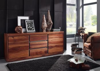 Credenza in legno sheesham - laccato / noble unique 187x46x77 SYDNEY #107