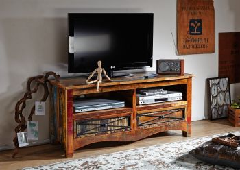 Mobile TV in legno riciclato - laccato 121x45x56 NATURE OF SPIRIT #114