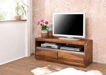 Mobile TV in legno sheesham - laccato / noble unique 120x40x50 SYDNEY #114