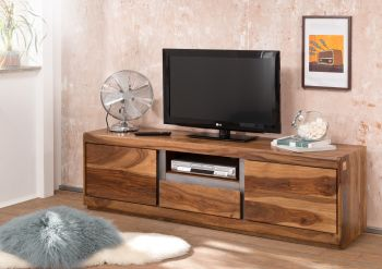 Mobile TV in legno sheesham - laccato / noble unique 170x40x50 SYDNEY #115