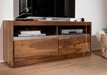 Mobile TV in legno sheesham - laccato / noble unique 133x40x60 SYDNEY #141