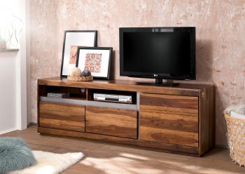 Mobile TV in legno sheesham - laccato / noble unique 180x40x60 SYDNEY #142