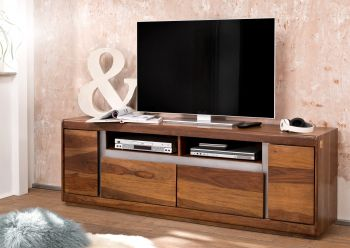 Mobile TV in legno sheesham - laccato / noble unique 180x40x60 SYDNEY #143