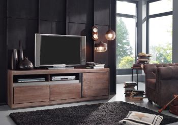 Mobile TV in legno sheesham - laccato / smoked oak 180x40x60 SYDNEY #242
