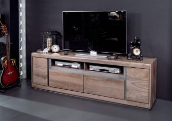 Mobile TV in legno sheesham - laccato / smoked oak 180x40x60 SYDNEY #243