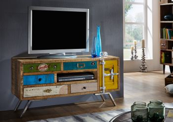 Mobile TV in legno mango / ferro - stampato 120x40x60 LIVERPOOL #20