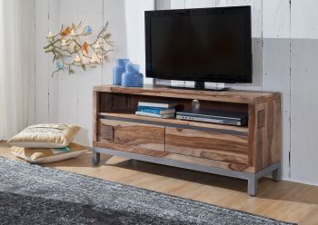 Mobile TV in legno acacia / sheesham - decapato 120x40x56 LE HAVRE #13