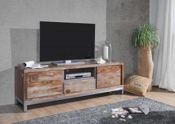Mobile TV in legno acacia / sheesham - decapato 170x40x56 LE HAVRE #14