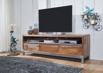 Mobile TV in legno acacia / sheesham - decapato 170x40x56 LE HAVRE #15