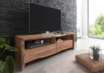 Mobile TV in legno acacia - natur 151x45x50 LIVE EDGE #108