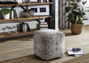 Pouf in stile vintage - turchese 45x45x45 GRANTS