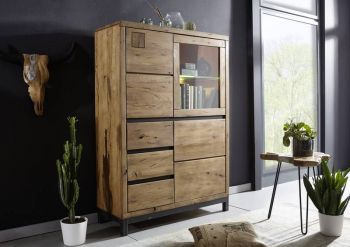 VILLANDERS Highboard #306 Wildeiche tabacco brown geölt