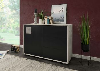 HELSINKI Sideboard #201 Wildeiche ice grey lackiert