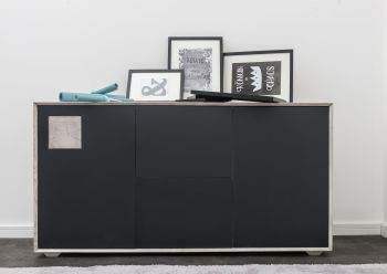HELSINKI Sideboard #202 Wildeiche ice grey lackiert