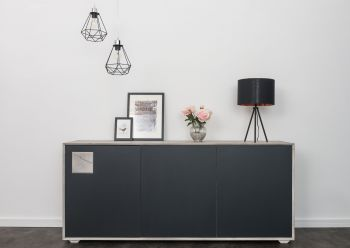HELSINKI Sideboard #203 Wildeiche ice grey lackiert