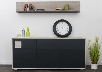 HELSINKI Sideboard #204 Wildeiche ice grey lackiert