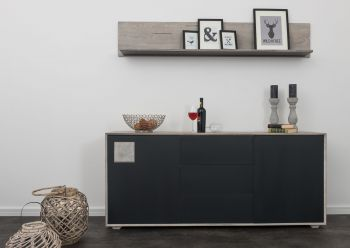 HELSINKI Sideboard #205 Wildeiche ice grey lackiert