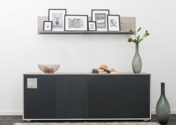 HELSINKI Sideboard #206 Wildeiche ice grey lackiert